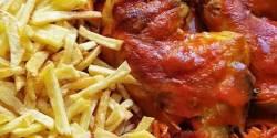 طرز تهیه خورش مرغ زعفرانی خوشمزه و مجلسی برای مهمانی