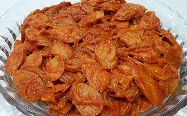طرز تهیه سوسیس بندری اصل مثل بیرون بدون سیب زمینی با قارچ و پنیر پیتزا دونفره با فلفل دلمه ای برای 10 نفر