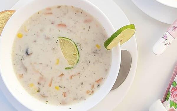 طرز تهیه سوپ شیر و خامه قارچ تصویری با تصویر برای کودک بدون مرغ دونفره xvc jidi s  adv