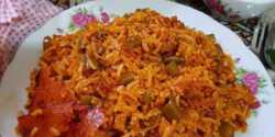 طرز تهیه لوبیا پلو دمی بدون گوشت با گوشت چرخ کرده دونفره تبریزی برای 8 نفر نذری