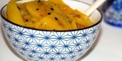 طرز تهیه ترشی انبه ساده با روغن زیتون به روش سنتی پاکستانی