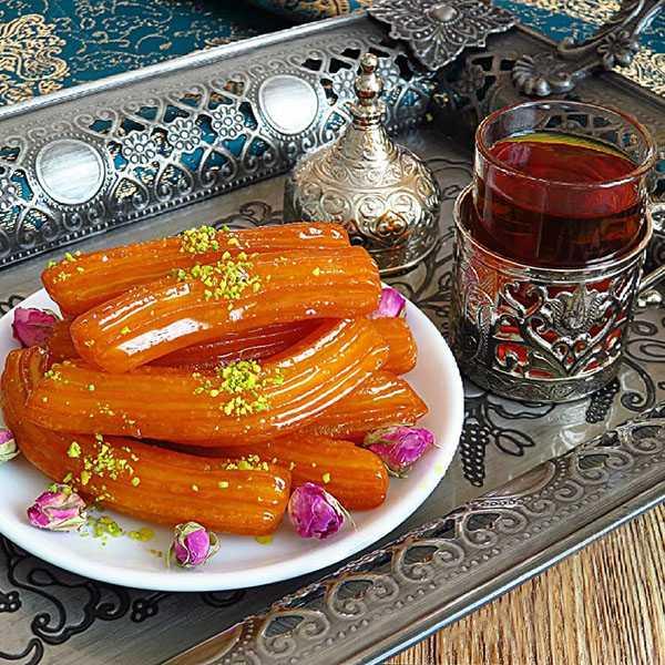 طرز تهیه بامیه عربی بزرگ مرحله به مرحله خانگی لبنانی دراز مشهد قدیمی خانگی آسان خشک عسلی لبنانی شیرینی ترکی