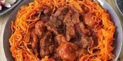 طرز تهیه خورش هویج تبریزی خوشمزه و ساده با آلو خورشتی