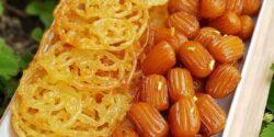 طرز تهیه زولبیا و بامیه خانگی آسان و خوشمزه مثل قنادی