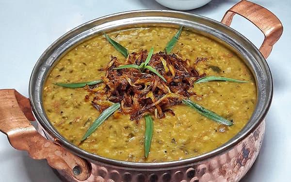 طرز تهیه آش سبزی بدون گوشت کازرونی بوشهری یزدی شیرازیی آبادان برای 100 نفر ساده خوشمزه صبحانه بوشهری