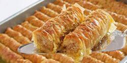 طرز تهیه باقلوا رولی ترکی خوشمزه و نرم به روش استانبولی
