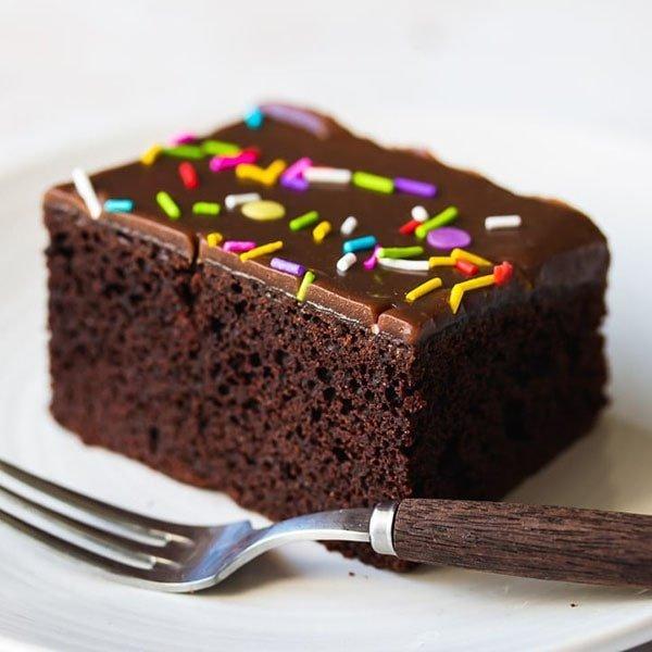 طرز تهیه کیک شکلاتی آسان و خوشمزه اسفنجی ترد و خوشمزه خیس با گردو بدون فر رستورانی در پلوپز با گاناش با پودر کیک ساده بدون شیر بدون همزن xvc jidi  d a ghjd