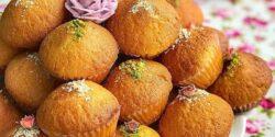 طرز تهیه کیک یزدی خانگی ساده با پف زیاد به روش بازاری