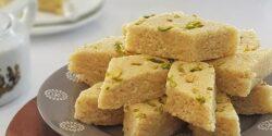 طرز تهیه لوز بادام خانگی خوشمزه و سنتی به روش تبریزی