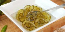 طرز تهیه مربای خیار خوشمزه و فوق العاده مجلسی به شکل گل رز