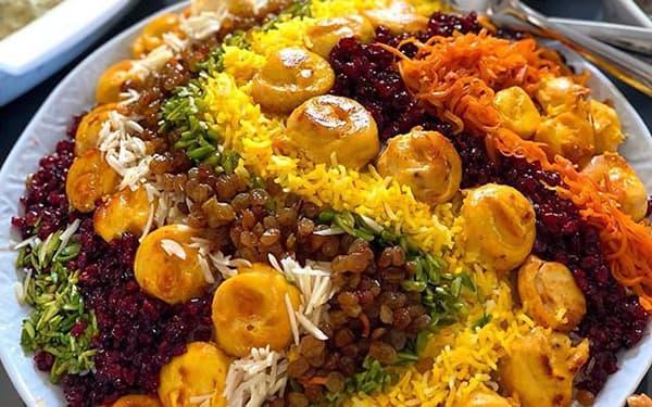 طرز تهیه مرصع پلو با مرغ ریش ریشدونفرهمرحله به مرحله سوران با ران مرغ شف طیبه رزا منتظمیغذای کدام شهر است