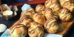 طرز تهیه نان خامه ای خوشمزه و خانگی مثل قنادی با پیمانه