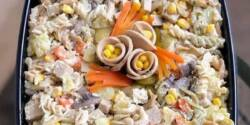 طرز تهیه سالاد ماکارونی خوشمزه و مجلسی به روش رستورانی