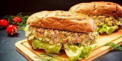 طرز تهیه ساندویچ تن ماهی ساده خوشمزه و مخصوص فرانسوی