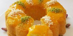 طرز تهیه کیک هلو ساده و خوشمزه ایتالیایی با سس مخصوص