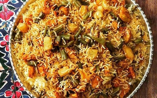 طرز تهیه استانبولی پلو مجلسی , استانبولی پلو با گوشت , استانبولی پلو با مرغ و لوبیا سبز , xvc jidi hsjhkf gd g