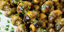 طرز تهیه قارچ کبابی خوشمزه و طعم دار شده به روش رستورانی