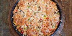 طرز تهیه پیتزا سیب زمینی خوشمزه و مخصوص با فر و بدون فر