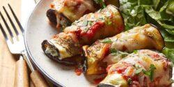 طرز تهیه رولت بادمجان با گوشت و پنیر پیتزا به روش رستورانی