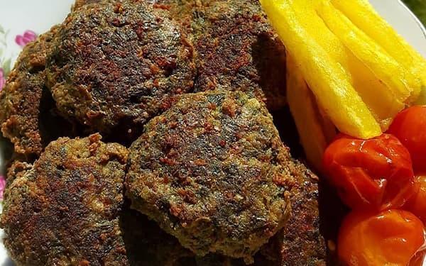 طرز تهیه شامی سبزی , سبزی خشک معطر برای کتلت , شامی سبزی گیلانی , xvc jidi ahld sfcd