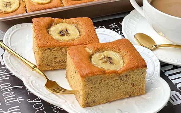 طرز تهیه کیک موزی ساده و خوشمزه گردورشد بدون فرو نسکافه و عسل و شکلات و دارچین xvc jidi d l c