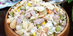 طرز تهیه سالاد ماکارونی با تن ماهی