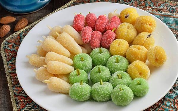 طرز تهیه شیرینی توت فرنگی با نارگیل شیرینی بادامی سفید خانگی نوروز xvc jidi advdkd j j