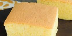 طرز تهیه کیک اسفنجی ساده پف دار و حرفه ای به روش قنادی