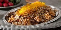 طرز تهیه رب پلو خوشمزه و مجلسی به روش شیرازی با گوشت مرغ