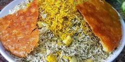 طرز تهیه سیب پلو خوشمزه و مجلسی به روش سنتی کرمانشاهی
