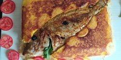 طرز تهیه ته چین ماهی درسته مجلسی به روش رستورانی