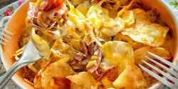 طرز تهیه هات چیپس در قابلمه در توستر با مرغ در مایکروفر با سیب زمینی بدون ژامبون روی گاز xvc jidi ihj  d s