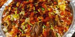 طرز تهیه پلو شاه عباسی خوشمزه و مخصوص به روش رستورانی