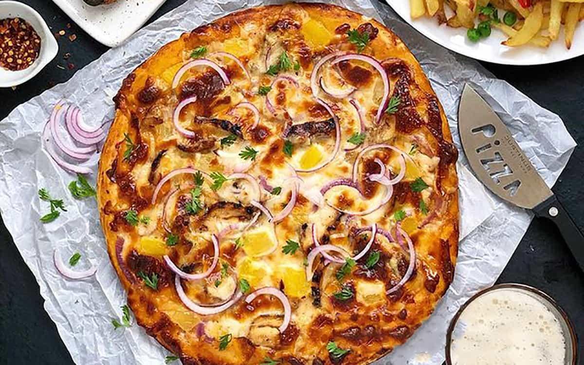 طرز تهیه پیتزا هاوایی