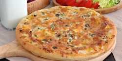 طرز تهیه پیتزا شاورما گوشت مرغ لبنانی ترکیه ای