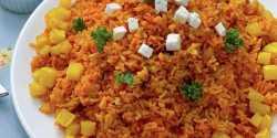 طرز تهیه پلو اسپانیایی خوشمزه و مخصوص با سبزیجات