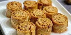 طرز تهیه شیرینی گردویی رولی خوشمزه و مخصوص ترکیه ای