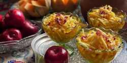 طرز تهیه فالوده سیب با خواص فراوان با طعم گلاب و زعفران