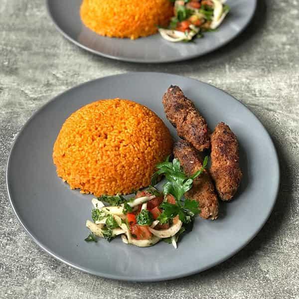 طرز تهیه پلو بلغور با آدانا کباب