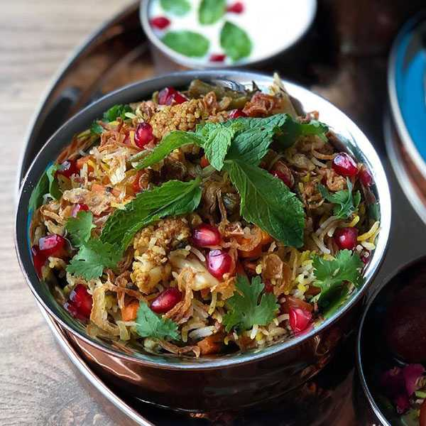 بریانی سبزیجات هندی , طرز تهیه بریانی سبزیجات هندی , دستور پخت بریانی سبزیجات هندی