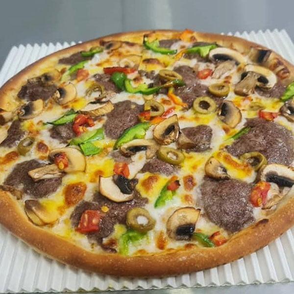 پیتزا سیر استیک , طرز تهیه پیتزا سیر استیک , دستور پخت پیتزا سیر استیک