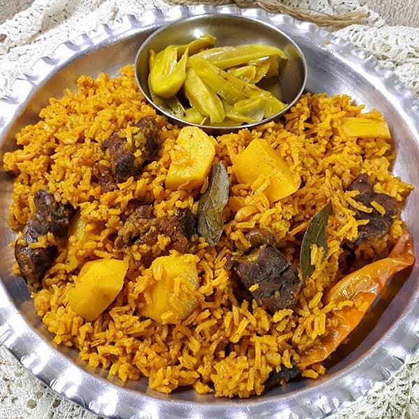 طرز تهیه هواری گوشت و نخود طرز تهیه هواری گوشت بندری طرز تهیه هواری گوشت بلوچستان طرز تهیه پلو گوشت عربی