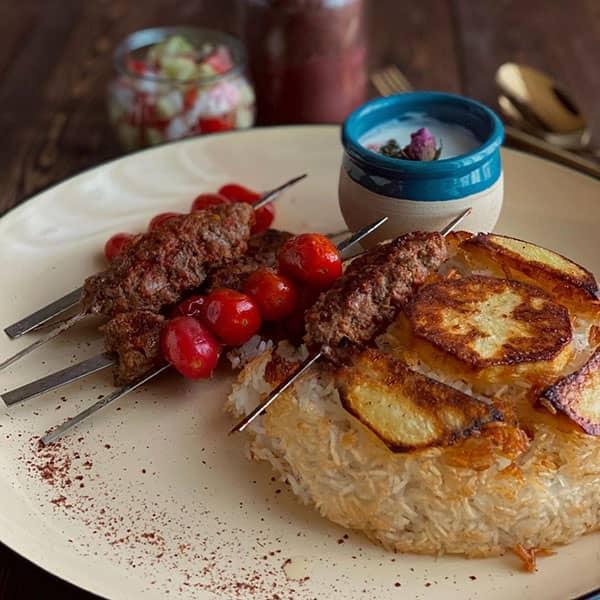 کباب تابه ای سیخی , طرز تهیه کباب تابه ای سیخی , دستور پخت کباب تابه ای سیخی