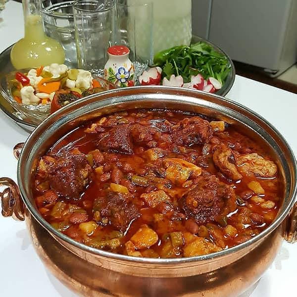 خورش فاصولیه عربی , طرز تهیه خورش فاصولیه , دستور پخت خورش فاصولیه